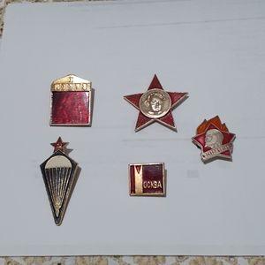 Vintage Soviet Union Pin Bundle